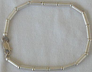 Silver part bracelet