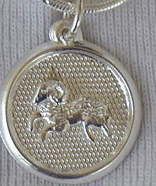 Primary image for Capricon round pendant