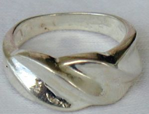 Silver AE ring