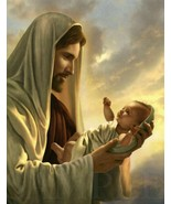 8.5X11 Jesus Christ Holding Baby Bible Picture New Fine Art Poster Print God Art - $12.16