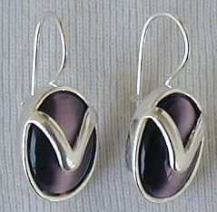 Primary image for Purple with silver earrings