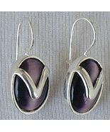 Purple with silver earrings - $24.00
