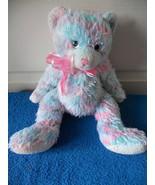Ty Classic Fresco Pink Blue Tye Dye Plush Bear Stuffed Toy - $5.50