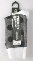 Trukfit Lil Wayne Men's Gunmetal Grey Marl Knit Black White Polkadot Socks 8-13 image 2