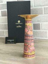 Versace Rosenthal Porcelain Vase/Candleholder Scala Palazzo Rosa 20cm/8 ... - $215.00