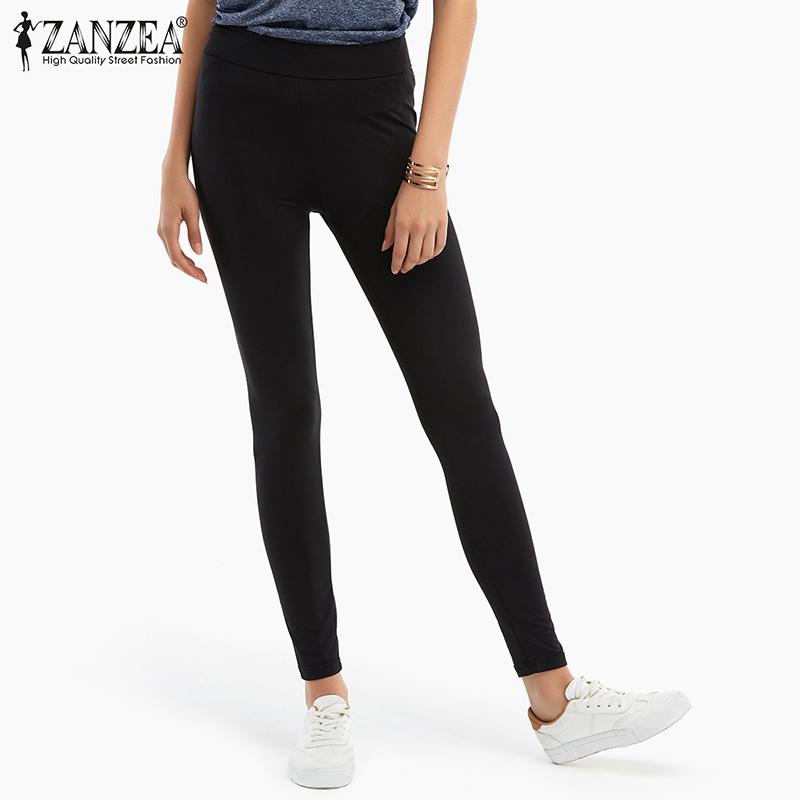 Zea  spring summer new women fashion leggings casual black fitness high waist leggings for women
