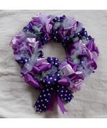 Shades of Purple Ribbon &Tulle Glittery Wreath ... - $44.55