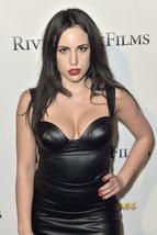 Sexy Megan Penn Designer Trendy Women  Real Leather Replica Dress