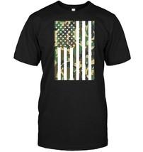 Woodland Camouflage American Flag, USA Flag T Shirt - $17.99+