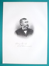 EDWARD HINMAN Ohio Banker & Farming Manufacturer - 1883 Superb Portrait ... - $16.20