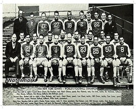 NFL 1934 World Champion New York Giants Team Photo 8 X 10 Photo Picture - $5.99