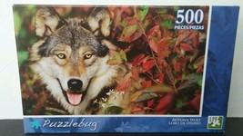 NEW Puzzlebug 500 Piece Puzzle - Autumn Gray Wolf - $8.59