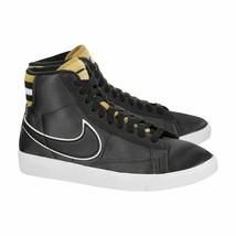 Nike pour Femmes Blazer Mid Premium Prm Noir Blé or Av9375-012 Taille 8 ... - $112.18