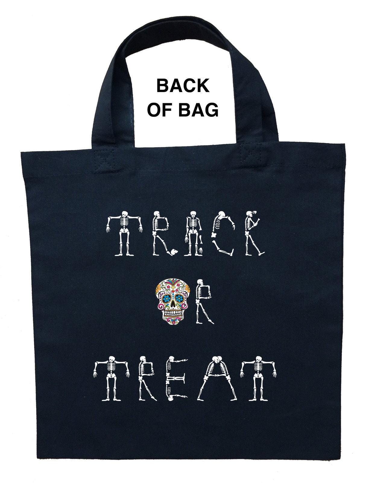 Day of the Dead Trick or Treat Bag, Personalized Day of the Dead Halloween Bag