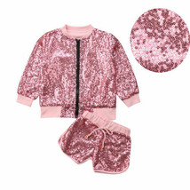 2018 New Fashion Sequins Toddler Kids Girls Outfits Cotton Clothes Long ... - $15.14+