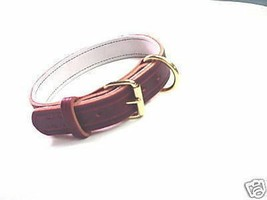 1 1/4 LEATHER COLLAR POLICE K9 SCHUTZHUND CUSTOM MADE SIZE COLOR ETC  - $25.00