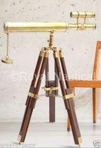 Nautical Brass Finish Telescope Double Barrel Gift & Home Decor - $99.00