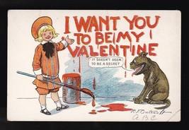 Buster Brown Valentine Vintage Artist Signed Postcard R.F. Outcault 1907 - $10.41