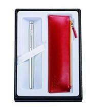 Cross Classic Century Lustrous Chrome Selectip Rollerball Pen & Crimson ... - $69.54