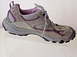 TIMBERLAND LEATHER /MESH GRAY /PURPLE  WOMENS SHOES SIZE 8M - $28.70