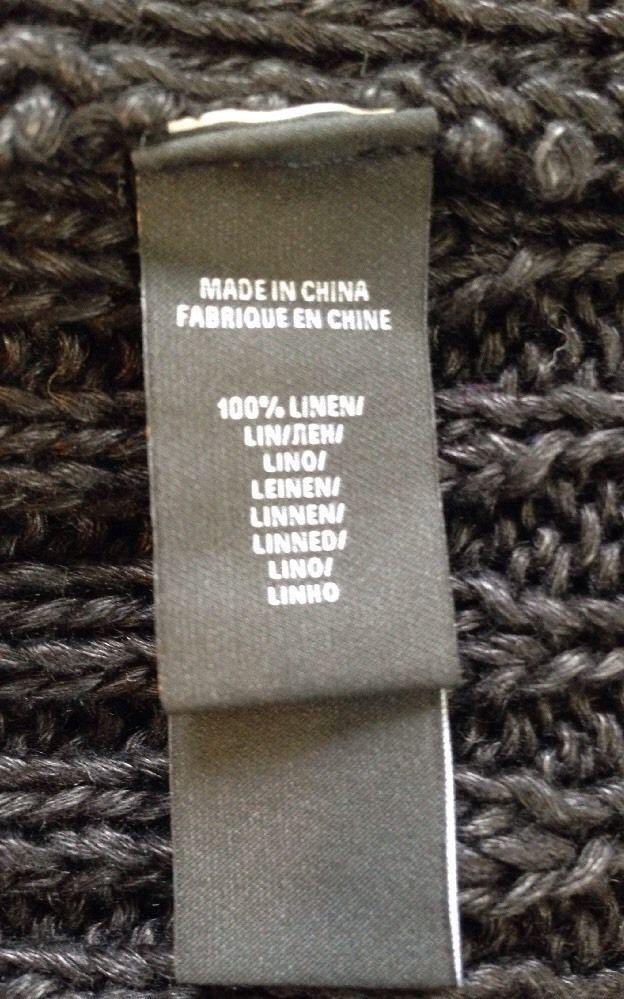 Ralph Lauren Herren schwarze Beschriftung handgestrickt Leinen Pulli Größe M