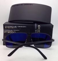 New PORSCHE DESIGN Sunglasses P'8639 A 62-13 145 Black Aviator Frame w/ Grey