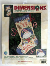 Dimensions 8669 Cross Stitch Jolly Santa Stocking - Howard - $29.99