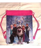 Frozen Elsa Anna Olaf Drawstring Backpack Sling Tote  New! More Characte... - $6.25