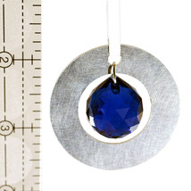 Small Aluminum and Crystal Circle Ornament  Ball image 2