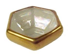 41623a czechoslovakia china hexagon gold gilt salt dip cellar czech iridescent thumb200