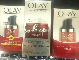 3 Pack OLAY Regenerist MicroSculpting Cream SPF 30 + WHIP + ADVANCED ANT... - $21.99