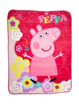 "Entertainment One Peppa Pig Peppa's Picnic Micro Raschel Throw, 46 x 60"" - $29.50"