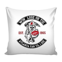 Win Lose Or Tie Atlanta Fan Til I Die Football Throw Pillow Sham Cover (... - $18.76