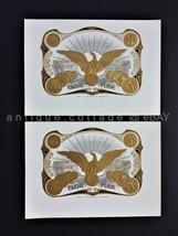 "Lot Antique 2pc Flor Fina American Eagle Cigar Box Label Embossed 6.5""x9"" - $42.50"