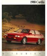 1988 Mitsubishi CORDIA sales brochure catalog 88 US L Turbo - $8.00