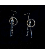 FREE WITH PURCHASE~SILVER AND RHINESTONE DROP PIERCED EARRINGS - $0.00