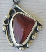 Red agate hand made pendant   - $44.00