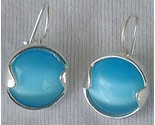 Round light blue earrings thumb155 crop