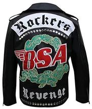 BSA George Michael Faith Rockers Revenge Biker Black Leather Jacket image 1