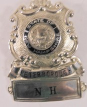 Obsolete Vintage State of  New Hampshire Peterborough Badge - $21.27