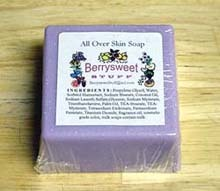 6 Purple Floral Handmade Soaps Variety Collection Berrysweetstuff.com