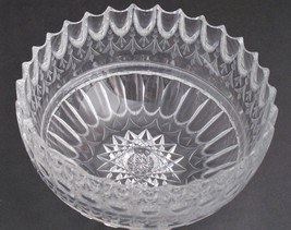 Mouth blown blank hand Cut & polished Glass bowl ABP   - $129.97