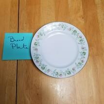 Johann Haviland Forever Spring Bread Plate White Multi-Color Floral Rim  - $3.91