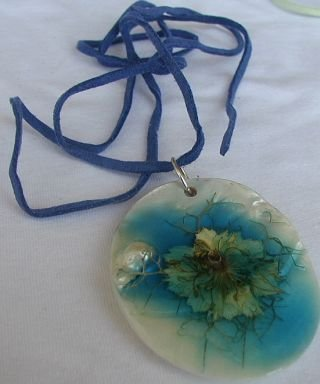 Light blue mother of pearl pendant