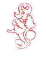 Poodle cute rubber stamp  - $9.99