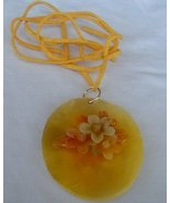 Yellow flowers mother of pearl - $30.00