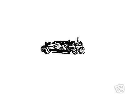 Primary image for Road Grader roadgrader Vintage side view  rubber stamp