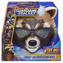 Kids Marvel Guardians of The Galaxy Rocket Raccoon Action Mask Moving Mo... - £3.84 GBP