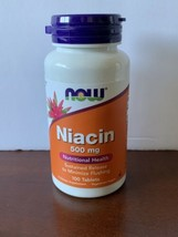 Now Foods Niacin 500 mg - 100 Capsules, 01/2023  Made In USA  FAST SHIPPING - $13.00