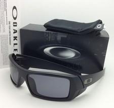 New OAKLEY Sunglasses GASCAN 03-473 60-15 Matte Black Frames with Grey lenses